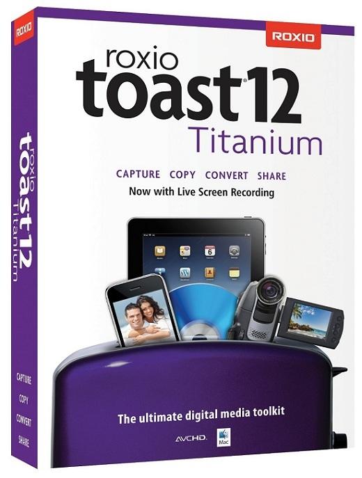 Roxio Toast Titanium PRO 12.1 (Mac OSX) (12/04/15)