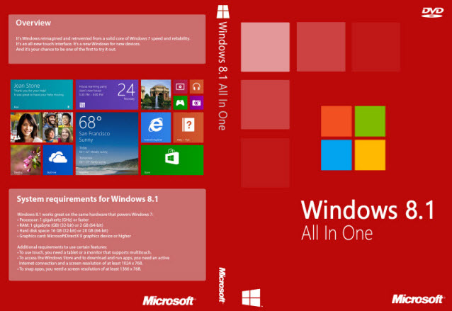 Microsoft Windows 8.1 AIO 8in1 (x86x64) en-US May 2015 (May 15, 2015)